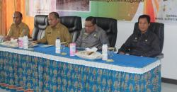 KEGIATAN WABUP : Wakil Bupati Mura, Darmaji (dua dari kiri) saat menghadiri kegiatan yang dilaksanakan di Kantor Dinas Kesehatan beberapa waktu lalu.
