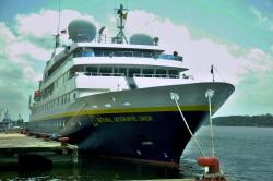 KAPAL PESIAR : Kapal pesiar National Geographic Orion akan kembali sandar di Pelabuhan Panglima Utar, Kumai, bulan Mei mendatang.