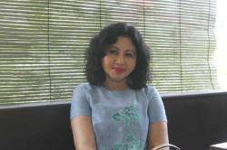 BUNDA PAUD: Bunda PAUD Lamandau, Maria Neva Marukan. Ia menilai peran asuh keluarga amat menentukan perkembangan anak.
