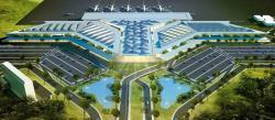 PENGEMBANGAN BANDARA: Maket pengembangan Bandara Syamsudin Noor Banjarmasin, Kalimantan Selatan.