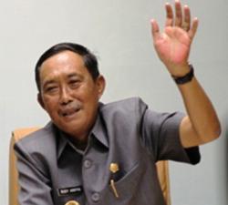 GUBERNUR KALSEL: Gubernur Kalsel Rudy Arifin akan mengakhiri maa jabatannya pada Agustus 2015 nanti.