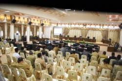 RAPAT PARIPURNA: Sejumlah anggota DPRD dan pihak eksekutif hadir dalam Rapat Paripurna dengan agenda penyampaian pendapat fraksi terhadap tiga buah raperda yang diajukan oleh Pemkab Barito Utara, Jumat (22/5/2015).