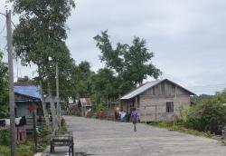 INSENTIF NAIK: Suasana sebuah desa di Kecamatan Balai Riam, Sukamara beberapa waktu lalu. Insentif Ketua RT dan RW di Kabupaten Sukamara tahun ini mengalami penaikan signifikan.