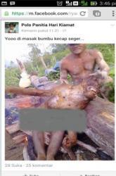 SATWA YANG DIBAKAR WARGA : ini ternyata bukan Orangutan, melainkan Beruk.