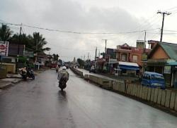sepi: salah satu sudut jalan kota Tanah Bumbu.