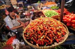 ILUSTRASI: Pedagang cabai. Harga cabai rawit di Pasar Kasongan, dan Pasar Kereng Pangi, Kabupaten Katingan, Kalimantan Tengah, tembus Rp150 ribu per kilogram. BORNEONEWS/ABDUL GOFUR
