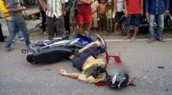 Barsani Suba (65) pensiunan guru Sekolah Dasar warga Gang Damai jalan Panglima Batur Buntok Barito Selatan (Barsel), tewas dilindas Truk.