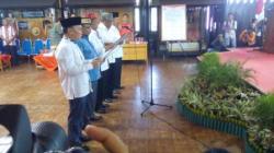 seluruh pasangan calon gubernur dan wakil gubernur Kalimanatan Tengah mengucapkan ikrar melaksanakan kampanye secara damai. Acara ini tidak diikuti cagub Ujang Iskandar.