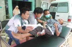 KRITIS : Rizaldi, sempat kritis. Rizaldi merupakan salah satu korban tabrakan di Jalan Tjilik Riwut Km 37 Palangka Raya, Senin (31/8/2015). Rizaldi sempat kritis. Lalu dibawa ke rumah sakit.