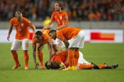 PELUANG TIPIS : Peluang Belanda untuk lolos ke Piala Eropa 2016 di Prancis terbilang tipis lantaran mereka kini terpaut enam angka dari Republik Ceko di tempat kedua dan delapan poin di belakang Islandia sebagai pemuncak klasemen.