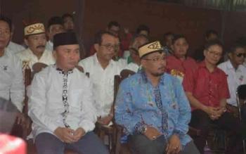 Pasangan Calon Gubernur dan Wakil Gubernur Kalteng Sugianto Sabran dan Habib Ismail hadir [DOK. BORNEONEWS]