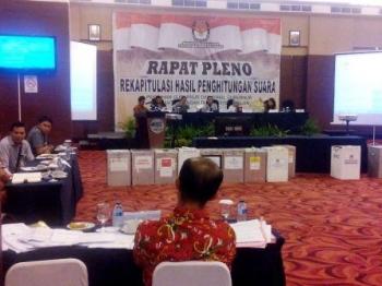Sidang Pleno Penghitungan Suara Pilgub Kalteng