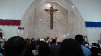 Misa Rabu Abu di Gereja Kathedral Santa Maria, Palangka Raya