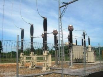 GARDU INDUK : Sebuah gardu induk sudah dibangun di wilayah Mentaren, Pulang Pisau.