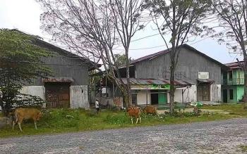 Sebagian besar bangunan yang berada di LIK juga sudah beralih fungsi sebagai tempat tinggal warga dan gudang penyimpanan barang. BORNEONEWS/RADEN