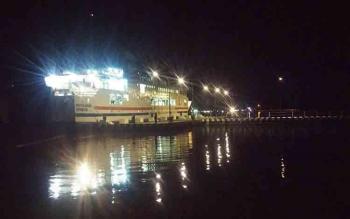 Tipe Pelabuhan Roro ini ternyata untuk penyeberangan kendaraan dari Jawa Tengah ke Kabupaten Kobar. BORNEONEWS/CP