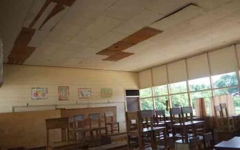 Bangunan ruang kelas di salah satu sekolah dasar di Muara Teweh rusak. Ini hendaknya menjadi perhatian dari pemerintah daerah. BORNEONEWS/DHANY