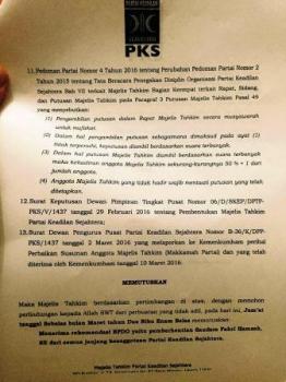 Beredar Surat Pemecatan Fahri Hamzah
