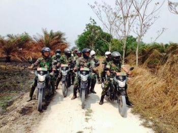 Cegah Karhutla, TNI-Pemkab Kobar Bentuk Desa Anti Api