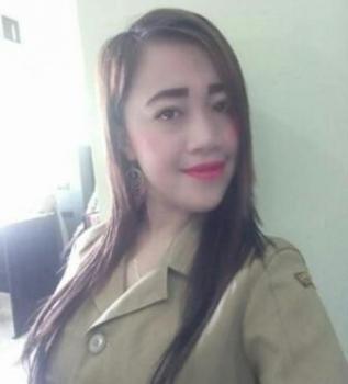 Meisa Yusiana, tenaga harian lepas (THL) Kantor Ketahanan Pangan dan Penyuluhan Katingan. (foto: Gofur)