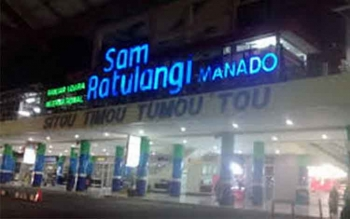 Bandara Sam Ratulangi, Manado. ISTIMEWA