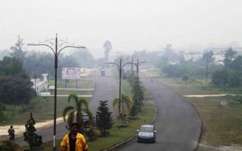 Jalanan di Kabupaten Gunung Mas. DOK PALANGKA POST