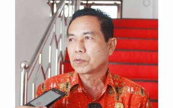 Kepala Badan Penanggulangan Bencana Daerah Kabupaten Gunung Mas, M. Rusdi. BORNEO/EPRA SENTOSA