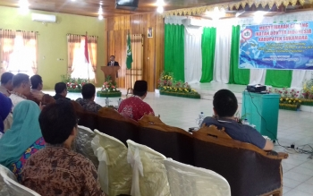 Foto : Suasana pembukaan Muscab IDI yang dipusatkan di Gedung Gawi Barinjam Sukamara.