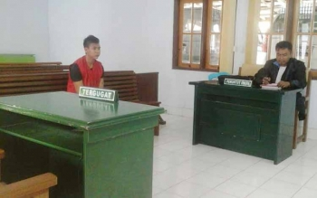 Pencuri Motor Diganjar 7 Bulan Penjara