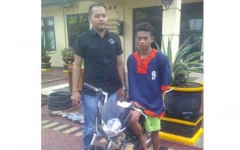 Polres Barut Ringkus Pencuri Dua Sepeda Motor
