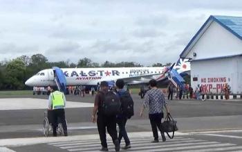 Armada Kalstar Aviation di Bandara H Asan Sampit.