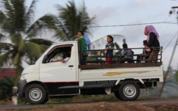 Polres Kotim akan Tindak Angkutan Bak Terbuka Bawa Pemudik
