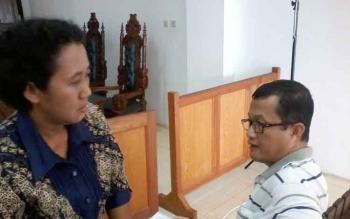 Terdakwa korupsi direktur RSUD Lamandau, drg Sri Purwanti dituntut 3,5 tahun penjara. BORNEONEWS/DARLAN