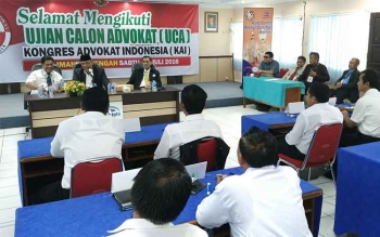 DPD Kongres Advokat Indonesia Kalteng Gelar Ujian Calon Advokat