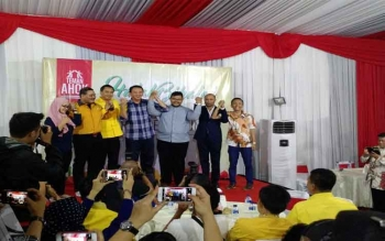 Basuki Tjahaja Purnama (Ahok) dalam acara halal bihalal Teman Ahok, Rabu (27/7/2016). Ahok mantap memilih jalur parpol untuk Pilgub DKI Jakarta 2017. BORNEONEWS/DETIKCOM/DANU DAMARJATI
