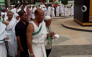 Warga Kotim saat melakukan manasik haji sebelum berangkat ke Tanah Suci Mekkah.