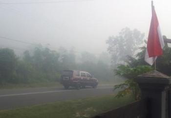 Kabut Pekat Mulai Selimuti Pangkalan Bun