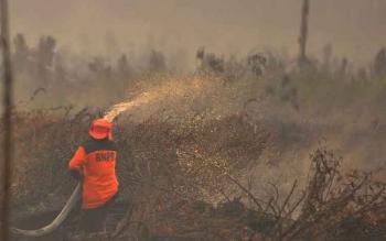 Hutan Produksi di Jalur Pangkalan Bun-Kolam Mulai Terbakar