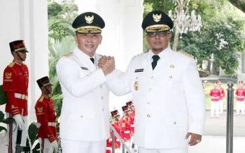 Gubernur Kalimantan Tengah, Sugianto Sabran (kiri), dan Wakil Gubernur Kalteng, Habib H Said Ismail. BORNEONEWS/DOK