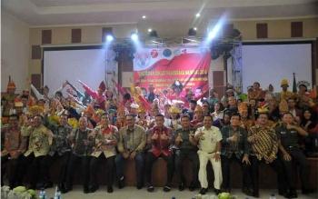 Menpora Imam Nahrawi menutup Pendidikan dan Pelatihan Paskibraka Tingkat Nasional Tahun 2016,di Wisma Soegondo Komplek PP-PON Cibubur, Jakarta, Rabu (24/8) siang. BORNEONEWS/KEMENPORA