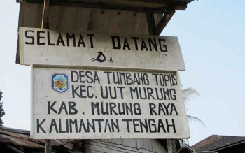 Desa Tumbang Topus. BORNEONEWS/SUPRI ADI