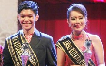 Yosia dan Feby dinobatkan sebagai Aba Ambo Kabupaten Kotawaringin Barat pada malam grand final di Pangkalan Bun Park. Sabtu (28/8/2016). BORNEONEWS/FAHRUDDIN