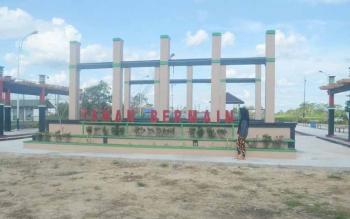 Taman bermain di Pulang Pisau yang baru saja dibangun oleh Pemkab Pulang Pisau. BORNEONEWS