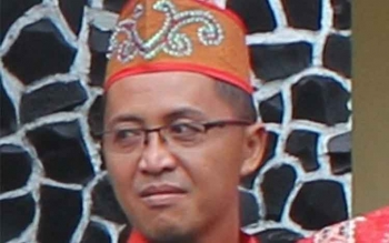 Ketua Dewan Adat Dayak (DAD) Kabupaten Kotawaringin Timur (Kotim) Hamidan IJ Biring. BORNEONEWS/HAMIM