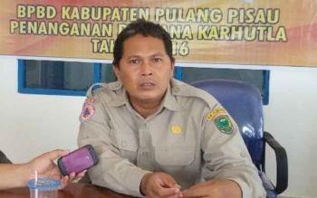 Sekretaris BPBD Pulang Pisau, Rudi Purwadi. BORNEONEWS/JAMES DONNY