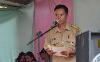 Kepala Desa Muara Pari, Mukti Ali. BORNEONEWS/RAMADANI