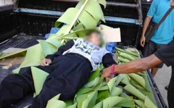 Ardianus Messakh (61) karyawan PT Multi Persada Gatramegah yang meninggal akibat kecelakaan ditelantarkan. Jasad korban sudah tiga hari di ruang jenasah RSUD Muara Teweh. BORNEONEWS/PPOST/AGUS SIDIK