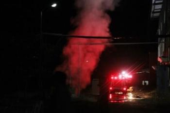 Kebakaran di lingkunghan PLTU Kumai.