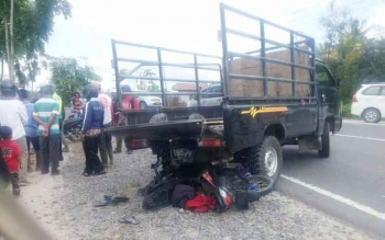 Kecelakaan lalu lintas, di Jalan Ahmad Yani, Kotawaringin Barat, yang merenggut korban jiwa beberapa waktu lalu. Polisi akan memasang spanduk di tempat lakalantas yang menelan korban jiwa untuk meminimalisir kecelakaan. BORNEONEWS/CECEP HERDI