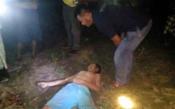 Korban ditemukan pertama kali oleh supir truk di kebun sawit yang ada di Desa Kadipi Atas, Kecamatan Pangkalan Lada. Senin (3/10/2016). BORNEONEWS/FAHRUDDIN